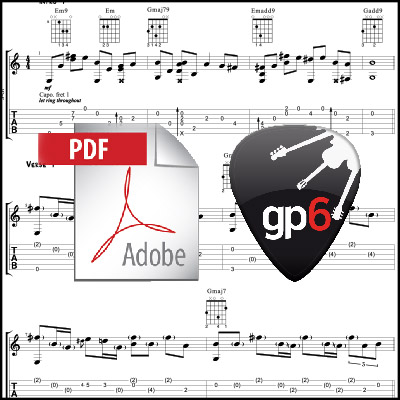 Hello – Adele (acoustic guitar arrangement) PDF + GPX