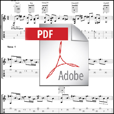 Hello – Adele (acoustic guitar arrangement) PDF only