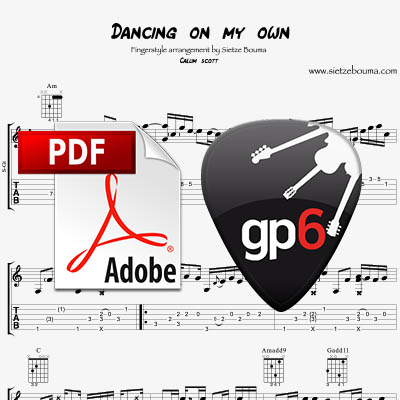 Dancing on my own (Callum Scott) – Acoustic Fingerstyle arrangement (pdf + gpx)