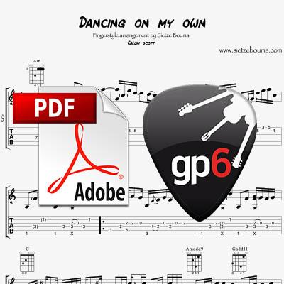 Dancing on my own (Callum Scott) – Acoustic Fingerstyle arrangement (pdf + gpx)